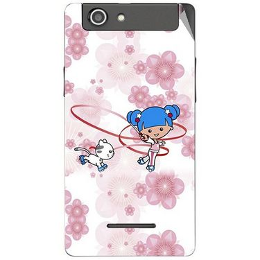 Snooky 42870 Digital Print Mobile Skin Sticker For XOLO A500s - White