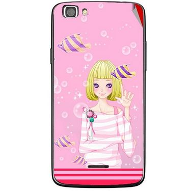 Snooky 42873 Digital Print Mobile Skin Sticker For XOLO A500s Lite - Pink