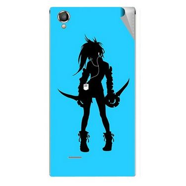 Snooky 42900 Digital Print Mobile Skin Sticker For XOLO A550S IPS - Blue