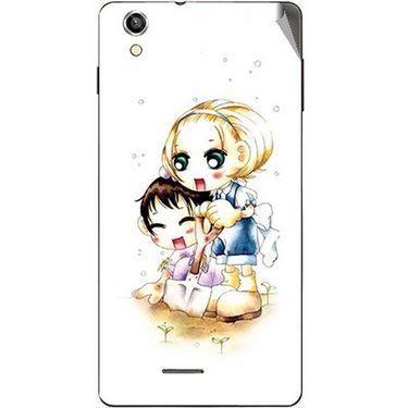 Snooky 42937 Digital Print Mobile Skin Sticker For XOLO A1010 - White
