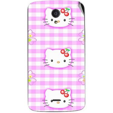Snooky 42943 Digital Print Mobile Skin Sticker For Xolo Omega 5.0 - Pink