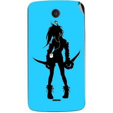 Snooky 42944 Digital Print Mobile Skin Sticker For Xolo Omega 5.0 - Blue