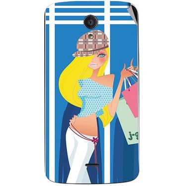Snooky 42949 Digital Print Mobile Skin Sticker For Xolo Omega 5.5 - Blue