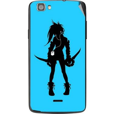 Snooky 42988 Digital Print Mobile Skin Sticker For Xolo Q610S - Blue