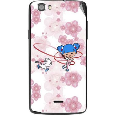 Snooky 42991 Digital Print Mobile Skin Sticker For Xolo Q610S - White