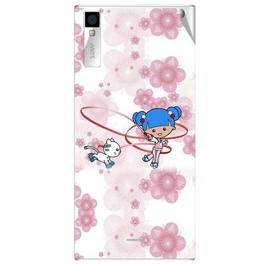Snooky 43002 Digital Print Mobile Skin Sticker For Xolo Q600S - White