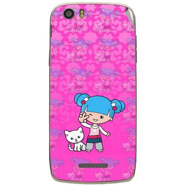 Snooky 43023 Digital Print Mobile Skin Sticker For Xolo Q700s - Pink