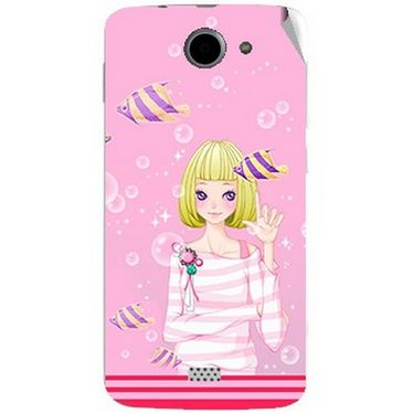 Snooky 43060 Digital Print Mobile Skin Sticker For Xolo Q1000 - Pink