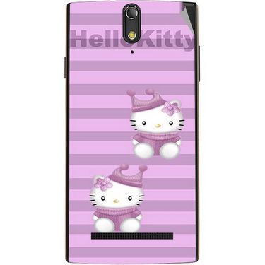 Snooky 43096 Digital Print Mobile Skin Sticker For Xolo Q1020 - Pink
