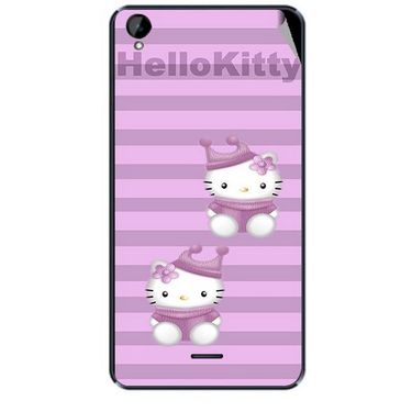 Snooky 43118 Digital Print Mobile Skin Sticker For Xolo Q2000L - Pink