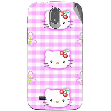 Snooky 43141 Digital Print Mobile Skin Sticker For Xolo Play T1000 - Pink