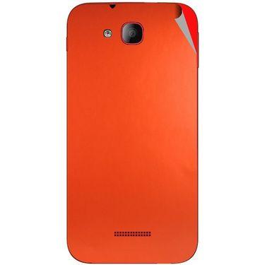 Snooky 43202 Mobile Skin Sticker For Intex Aqua CURVE Mini - Orange