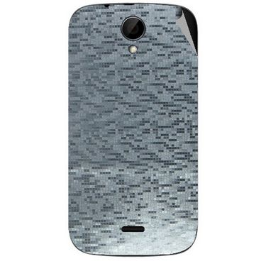 Snooky 43241 Mobile Skin Sticker For Intex Aqua i3 - silver
