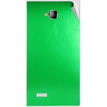 Snooky 43552 Mobile Skin Sticker For Intex Aqua Y2 - Green