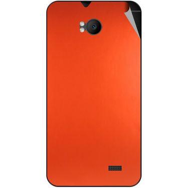 Snooky 43574 Mobile Skin Sticker For Intex Aqua Y2 Remote - Orange