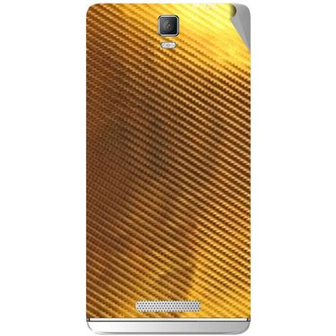 Snooky 43713 Mobile Skin Sticker For Lava Iris Fuel 50 - Golden