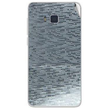 Snooky 43745 Mobile Skin Sticker For Lava Iris 406Q - silver