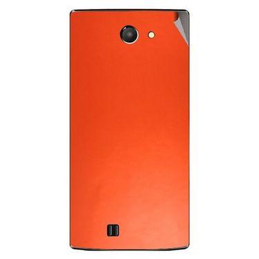 Snooky 43754 Mobile Skin Sticker For Lava Iris 456 - Orange