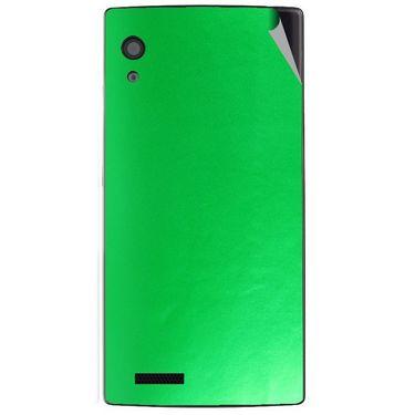 Snooky 43804 Mobile Skin Sticker For Lava Iris Fuel 60 - Green