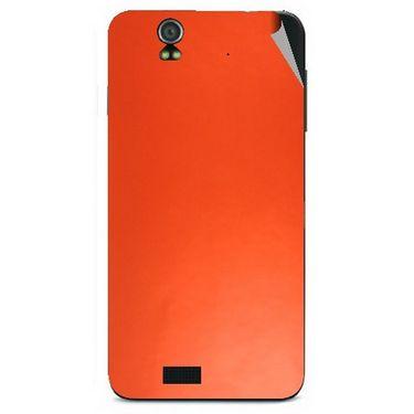 Snooky 43814 Mobile Skin Sticker For Lava Iris selfie 50 - Orange