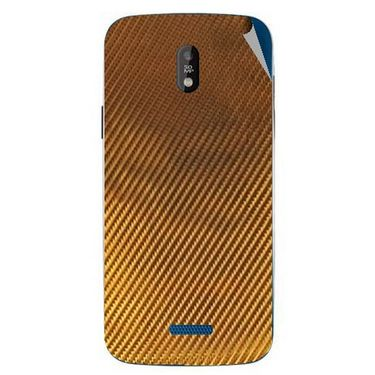 Snooky 43833 Mobile Skin Sticker For Lava Iris 450 - Golden