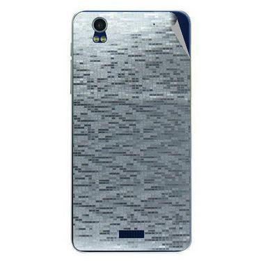 Snooky 43877 Mobile Skin Sticker For Lava Iris Pro 20 - silver