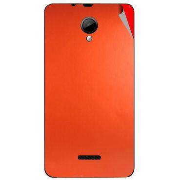 Snooky 43958 Mobile Skin Sticker For Micromax Canvas Fun A76 - Orange