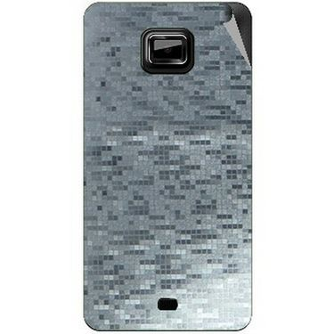 Snooky 44021 Mobile Skin Sticker For Micromax Ninja A91 - silver