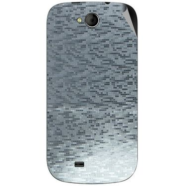 Snooky 44045 Mobile Skin Sticker For Micromax Canvas Elanza A93 - silver