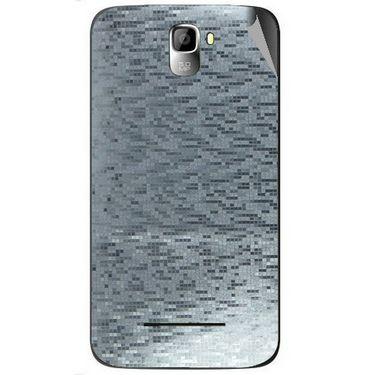 Snooky 44129 Mobile Skin Sticker For Micromax Canvas Entice A105 - silver