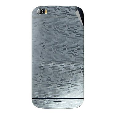 Snooky 44273 Mobile Skin Sticker For Micromax Canvas Doodle 2 A240 - silver