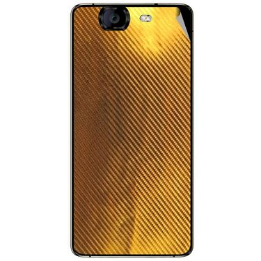 Snooky 44325 Mobile Skin Sticker For Micromax Canvas Knight A350 - Golden