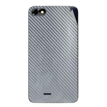 Snooky 44370 Mobile Skin Sticker For Micromax Micromax Bolt D321 - silver