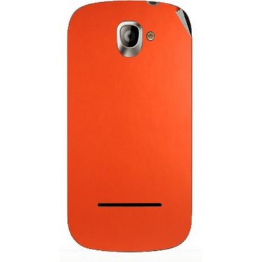 Snooky 44402 Mobile Skin Sticker For Xolo A500 - Orange
