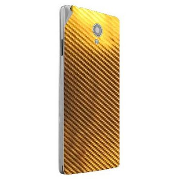 Snooky 44409 Mobile Skin Sticker For Xolo A500 Club - Golden