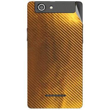 Snooky 44421 Mobile Skin Sticker For Xolo A500s - Golden
