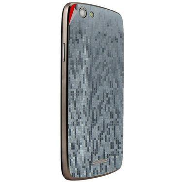 Snooky 44453 Mobile Skin Sticker For Xolo A510S - silver