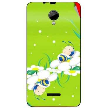 Snooky 45947 Digital Print Mobile Skin Sticker For Micromax Canvas Fun A76 - Green