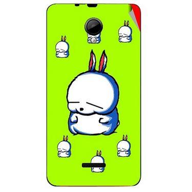 Snooky 45950 Digital Print Mobile Skin Sticker For Micromax Canvas Fun A76 - Green
