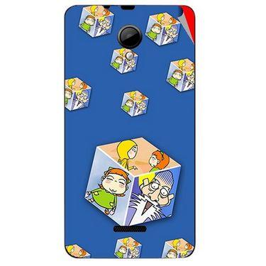 Snooky 45968 Digital Print Mobile Skin Sticker For Micromax Canvas Fun A76 - Blue
