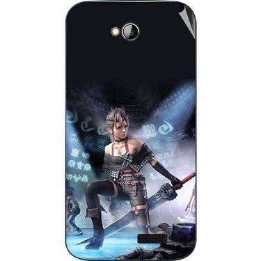 Snooky 45981 Digital Print Mobile Skin Sticker For Micromax Bolt A089 - Blue