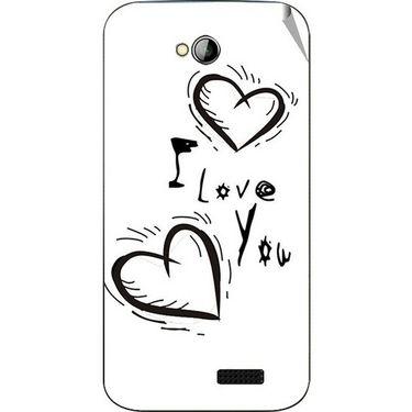 Snooky 45989 Digital Print Mobile Skin Sticker For Micromax Bolt A089 - White