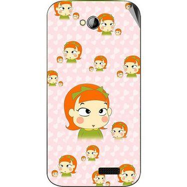 Snooky 46003 Digital Print Mobile Skin Sticker For Micromax Bolt A089 - Orange