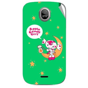 Snooky 46008 Digital Print Mobile Skin Sticker For Micromax Ninja A89 - Green
