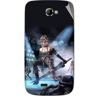 Snooky 46077 Digital Print Mobile Skin Sticker For Micromax Canvas Engage A091 - Blue