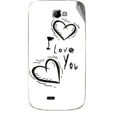 Snooky 46085 Digital Print Mobile Skin Sticker For Micromax Canvas Engage A091 - White