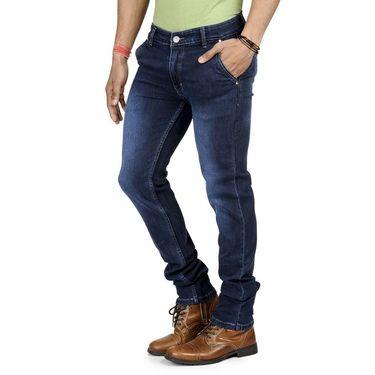 Blended Cotton Slim Fit Jeans_1060 - Blue