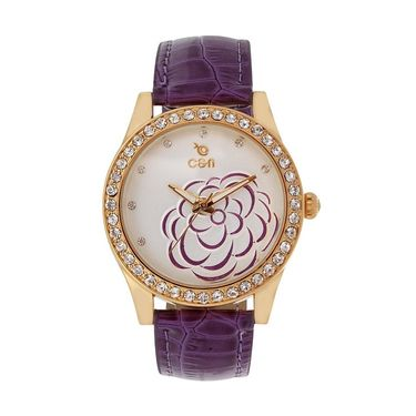 Chappin & Nellson Analog Round Dial Watch For Women_Cnl50w80 - Purple & White