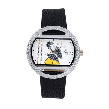Exotica Fashions Analog Oval Dial Watch For Women_Efl8w71 - Black