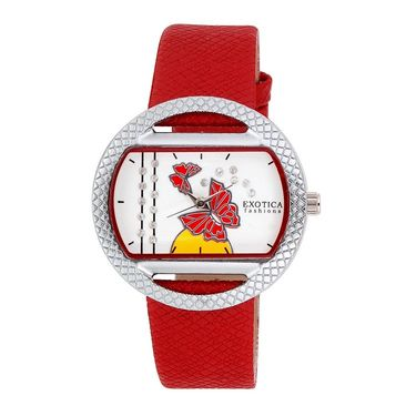 Exotica Fashions Analog Oval Dial Watch For Women_Efl8w75 - Red